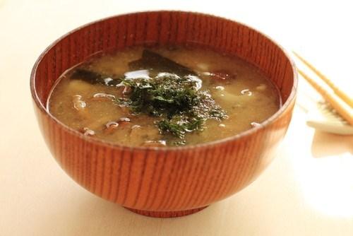 Грибной суп с панчеттой и саке