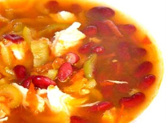 суп с красной фасолью и курицей рецепт
