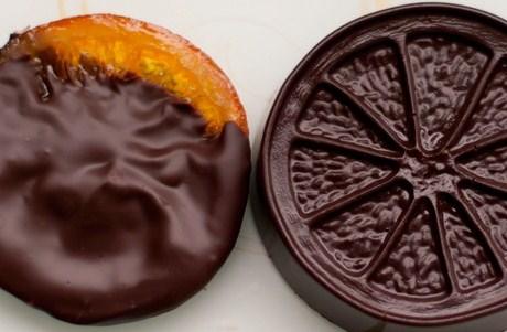 Апельсиновые цукаты в темном шоколаде