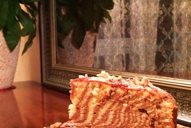 Полосатый пирог для ленивых