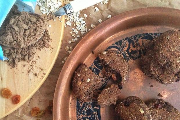 Имбирное печенье из льняной муки с овсянкой