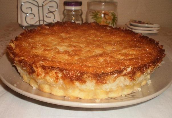 Пирог с ананасами под кокосовой заливкой «Райское наслаждение»