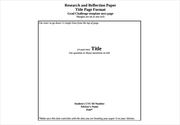 title page research paper