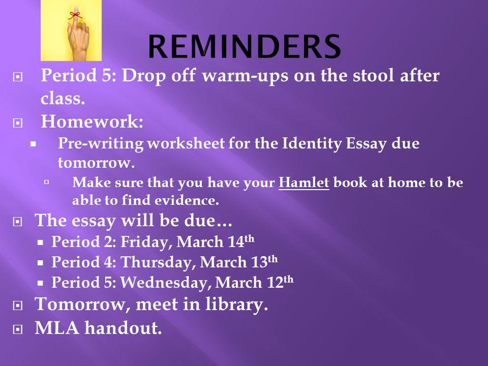 Essay hamlet