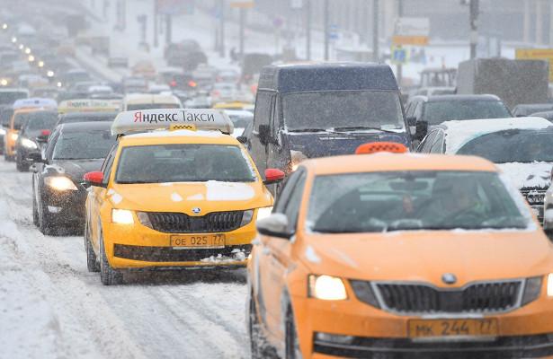 ФАСпроверит цены натакси вовремя снегопада вМоскве
