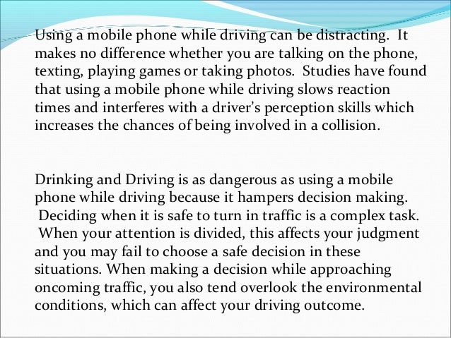 Write my effects of texting while driving essays