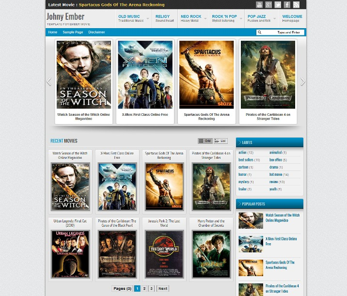 Movies Website Blog Page Watch Movies and TV