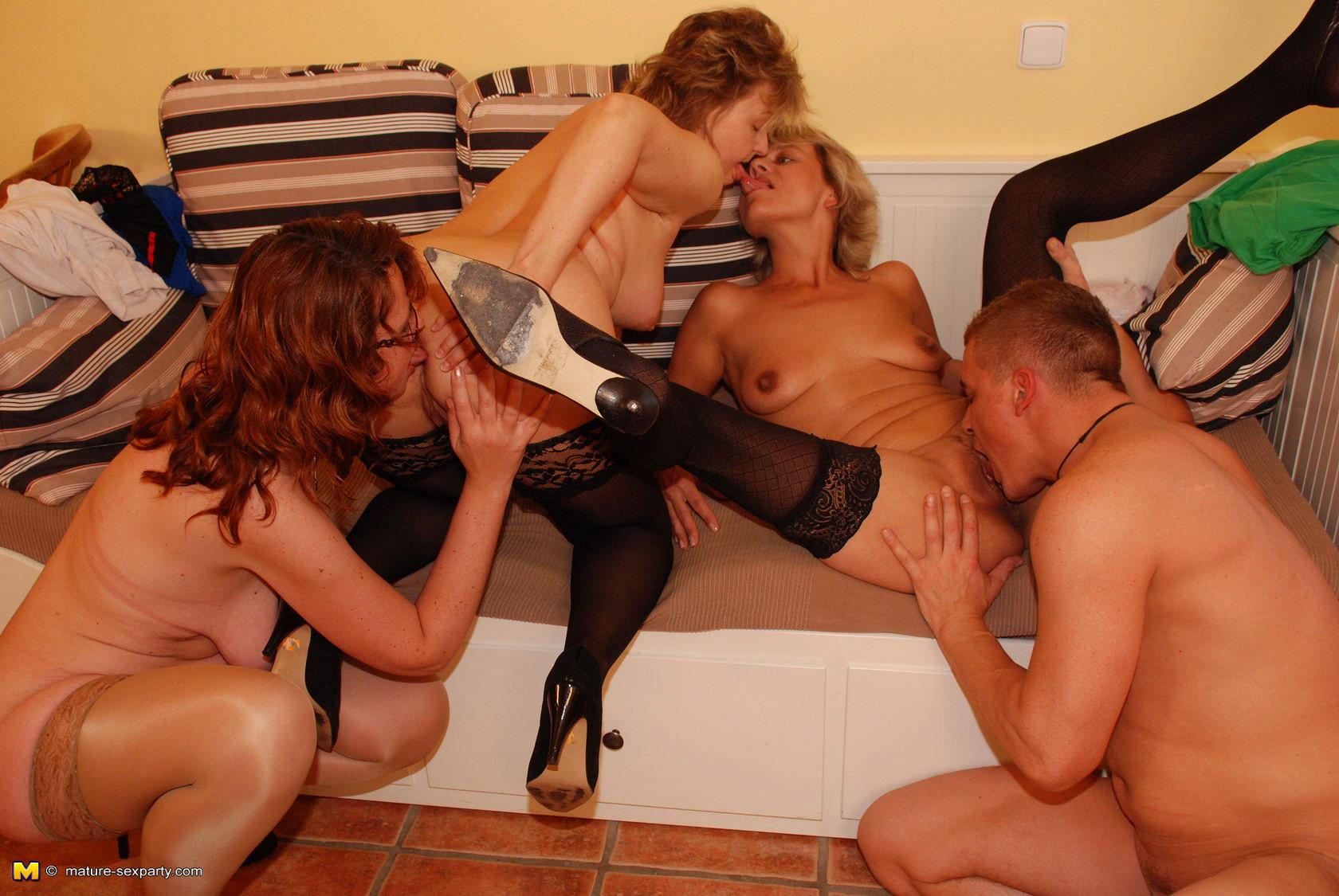 Black leather kissing lesbo