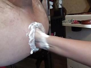 Big boobs in train