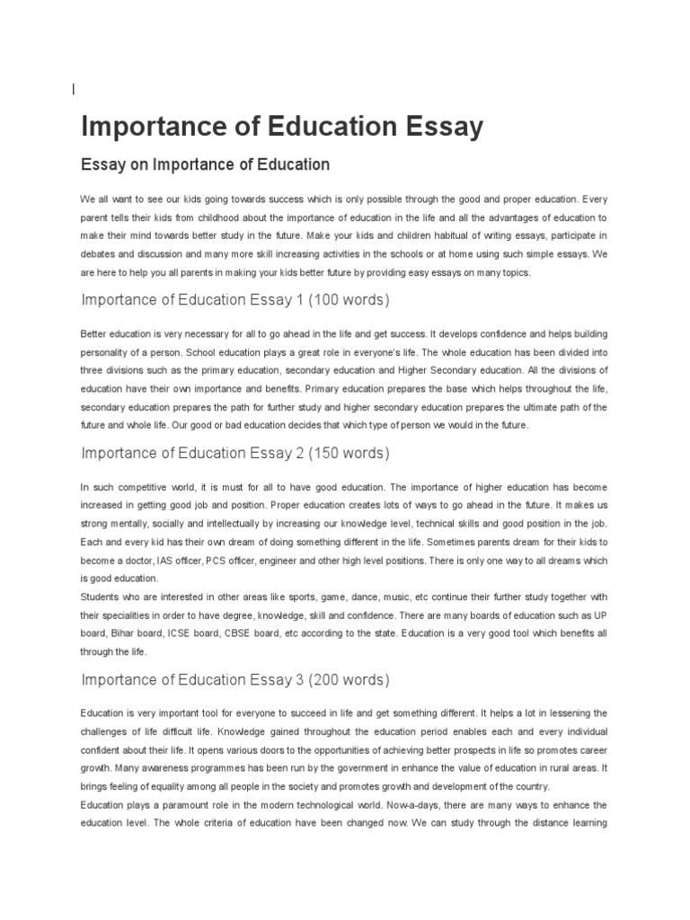 Why a catholic education is important to me essay