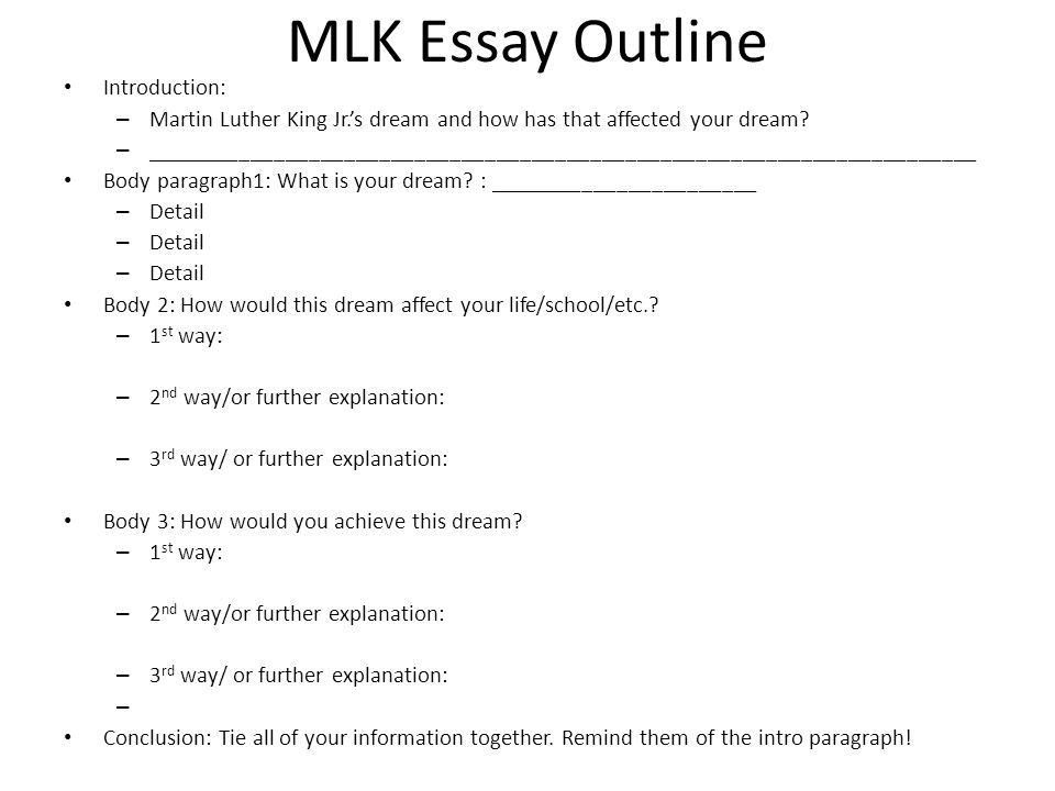 Introduction of an essay outline